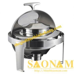 Nồi Hâm Cháo - Soup Sacona Tròn Nắp Kính SN#520055