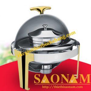 Nồi Hâm Cháo - Soup Sacona Tròn Chân Vàng SN#520901